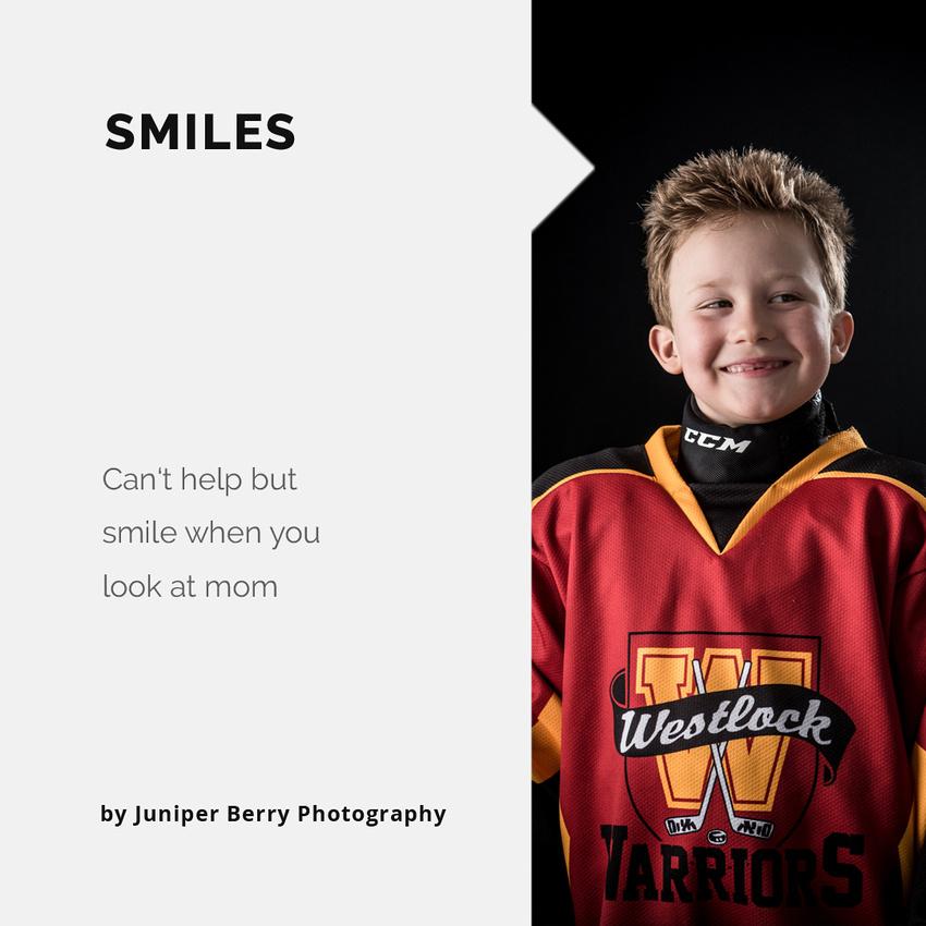 Sports photo shoots in studio, Alberta, Westlock minor hockey,