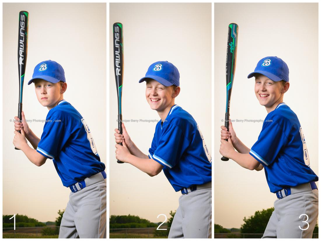 Behind the scenes at a baseball photo shoot