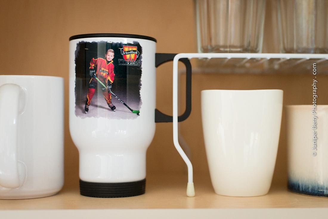 Westlock Warriors Hockey Travel Mug