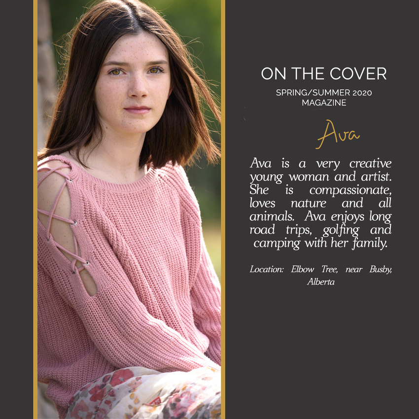 Cover Girl in Alberta Canada