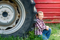 A country boy and his tractor